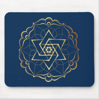 Mousepad Estrela de David filigrana do ouro