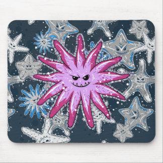 Mousepad Estrela do mar engraçada dos Coroa--Espinhos com