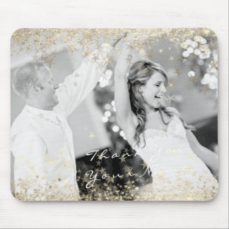 Mousepad Estrelas conhecidas do ouro da foto que Wedding o