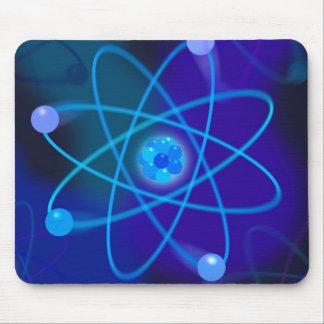 Mousepad Estrutura atômica azul