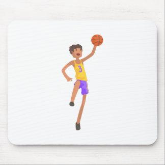 Mousepad Etiqueta de salto da ação do jogador de
