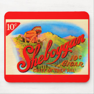 Mousepad etiqueta do charuto de Sheboygan do 1920