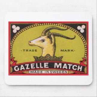Mousepad Etiqueta sueco da caixa de fósforos da gazela