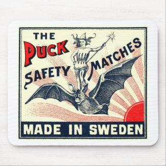 Mousepad Etiqueta sueco da caixa de fósforos do bastão