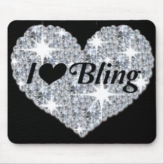 """Mousepad """"Eu amo bling"""" a esteira do rato"""