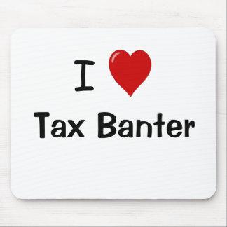 Mousepad Eu amo citações engraçadas do contador do imposto