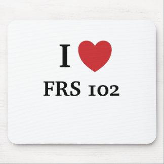 Mousepad Eu amo FRS102 - coração FRS 102 de I