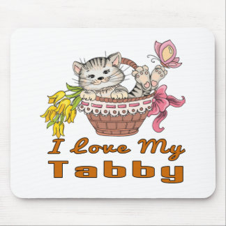 Mousepad Eu amo meu gato malhado