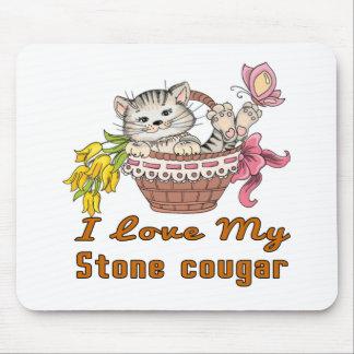 Mousepad Eu amo meu puma de pedra