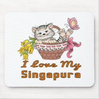Mousepad Eu amo meu Singapura