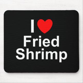 Mousepad Eu amo o camarão fritado coração