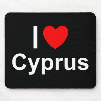 Mousepad Eu amo o coração Chipre