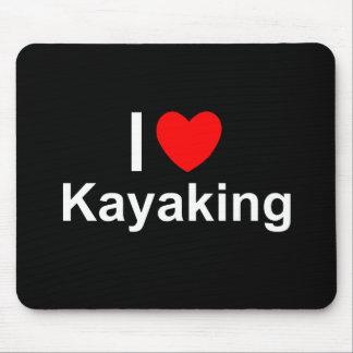 Mousepad Eu amo o coração que Kayaking