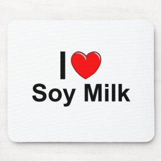 Mousepad Eu amo o leite de soja do coração