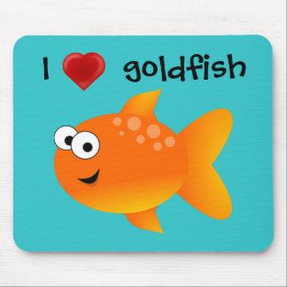 Mousepad Eu amo o peixe dourado