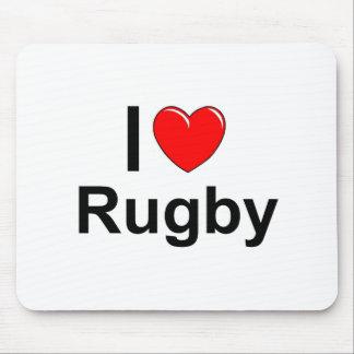 Mousepad Eu amo o rugby do coração