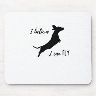 Mousepad Eu belive mim posso voar o dachshund