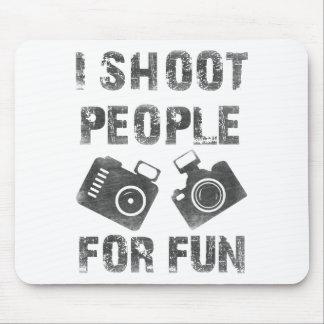Mousepad Eu disparo em pessoas para o divertimento
