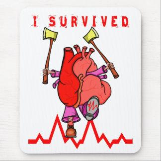 Mousepad Eu sobrevivi ao traumatismo do coração