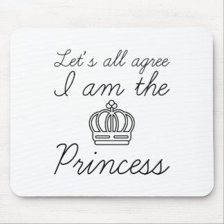 Mousepad Eu sou a princesa