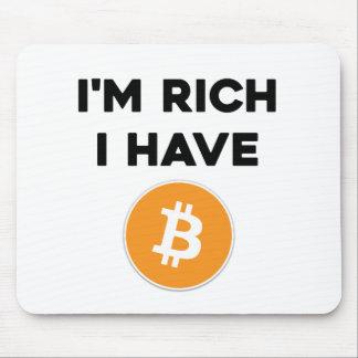 Mousepad Eu sou rico - eu tenho Bitcoin