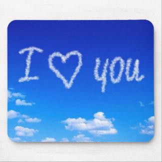 Mousepad Eu te amo em nuvens