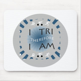 Mousepad Eu tri conseqüentemente mim sou Triathlon