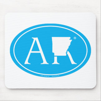 Mousepad Euro do orgulho do estado: AR Arkansas