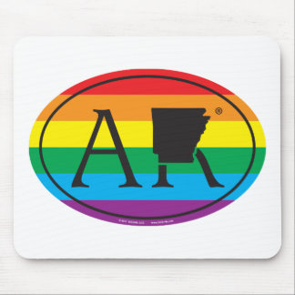 Mousepad Euro do orgulho do estado de LGBT: AR Arkansas