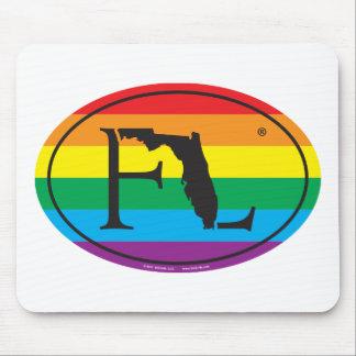 Mousepad Euro do orgulho do estado de LGBT: FL Florida