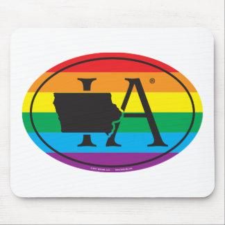 Mousepad Euro do orgulho do estado de LGBT: IA Iowa