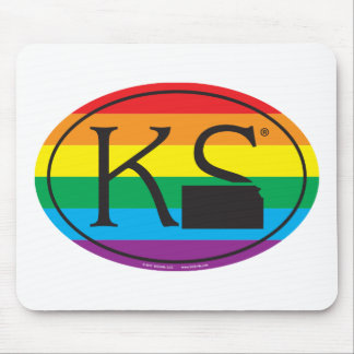 Mousepad Euro do orgulho do estado de LGBT: KS Kansas