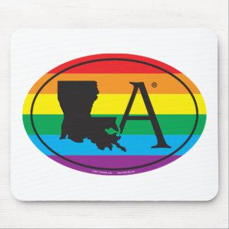 Mousepad Euro do orgulho do estado de LGBT: LA Louisiana