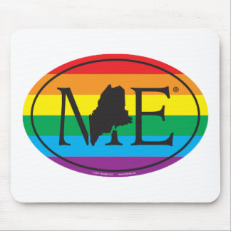 Mousepad Euro do orgulho do estado de LGBT: MIM Maine