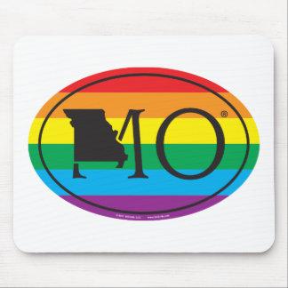 Mousepad Euro do orgulho do estado de LGBT: MO Missouri