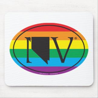 Mousepad Euro do orgulho do estado de LGBT: Nanovolt Nevada