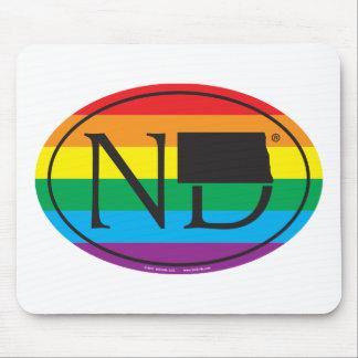 Mousepad Euro do orgulho do estado de LGBT: ND North Dakota