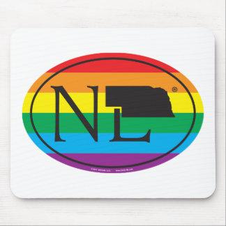 Mousepad Euro do orgulho do estado de LGBT: NE Nebraska