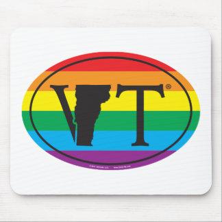 Mousepad Euro do orgulho do estado de LGBT: VT Vermont