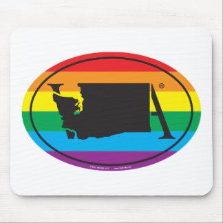 Mousepad Euro do orgulho do estado de LGBT: WA Washington