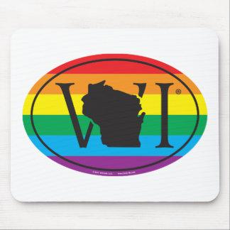 Mousepad Euro do orgulho do estado de LGBT: WI Wisconsin