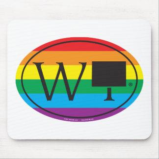 Mousepad Euro do orgulho do estado de LGBT: WY Wyoming