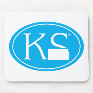Mousepad Euro do orgulho do estado: KS Kansas