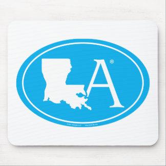 Mousepad Euro do orgulho do estado: LA Louisiana