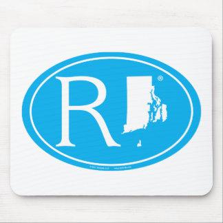 Mousepad Euro do orgulho do estado: RI Rhode - ilha