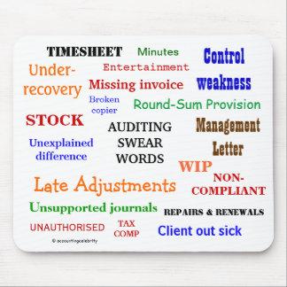 Mousepad Examinar jura palavras irritantes mas a piada