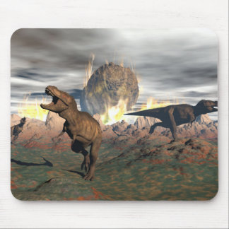 Mousepad Exctinction do dinossauro do tiranossauro - 3D