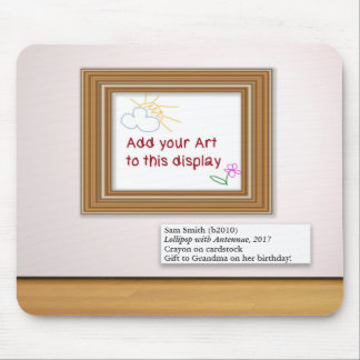 Mousepad Exposição do quadro de galeria da arte dos