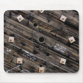 Mousepad Extremidade do carretel industrial de madeira do