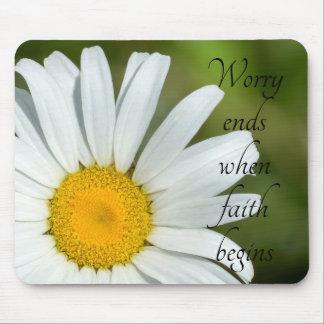 Mousepad Extremidades da preocupação quando a fé começar a